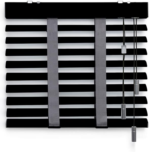 Afbeelding van Jaloezieen 50mm Zwart + stippen profiel