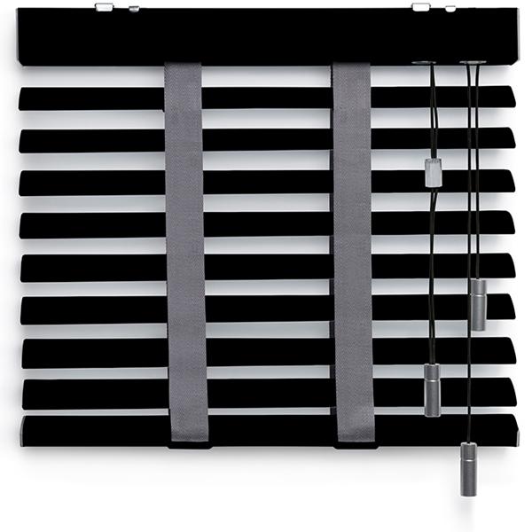 Afbeelding van Jaloezieen 50mm Zwart Motief Premium