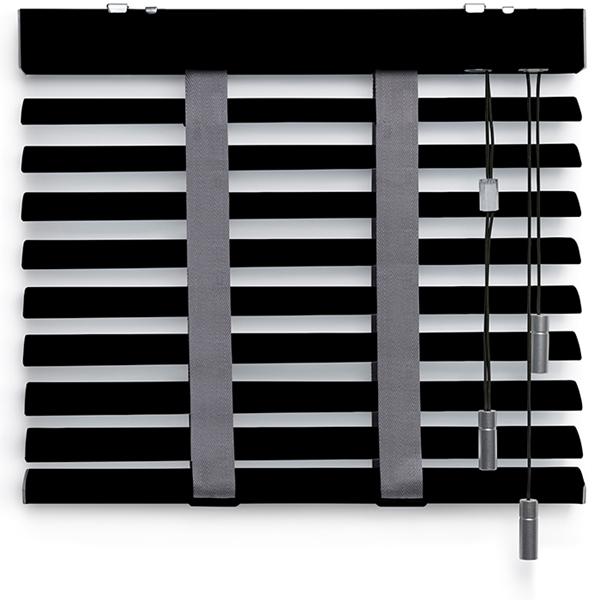 Afbeelding van Jaloezieen 50mm Zwart/grijs Premium