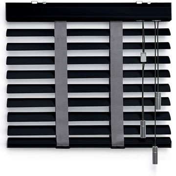 Afbeeldingen van Jaloezieen 50mm Donker grijs + Motief