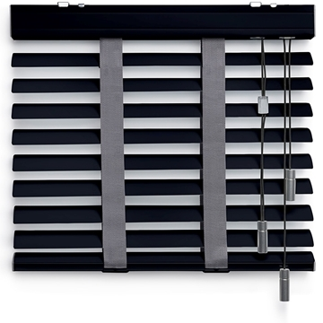 Afbeeldingen van Jaloezieen 50mm Donker grijs metallic