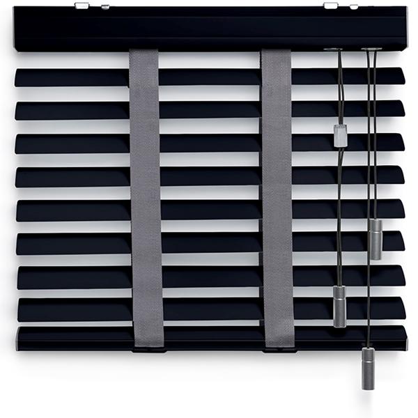 Afbeelding van Jaloezieen 50mm Donker grijs metallic