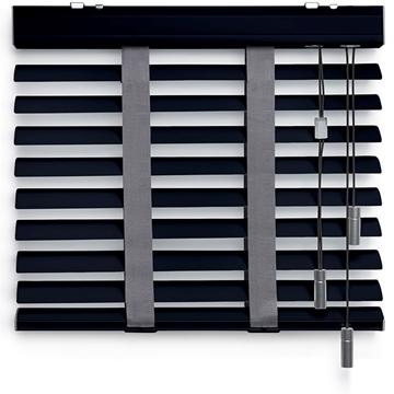 Afbeeldingen van Jaloezieen 50mm Dubbel Donker grijs