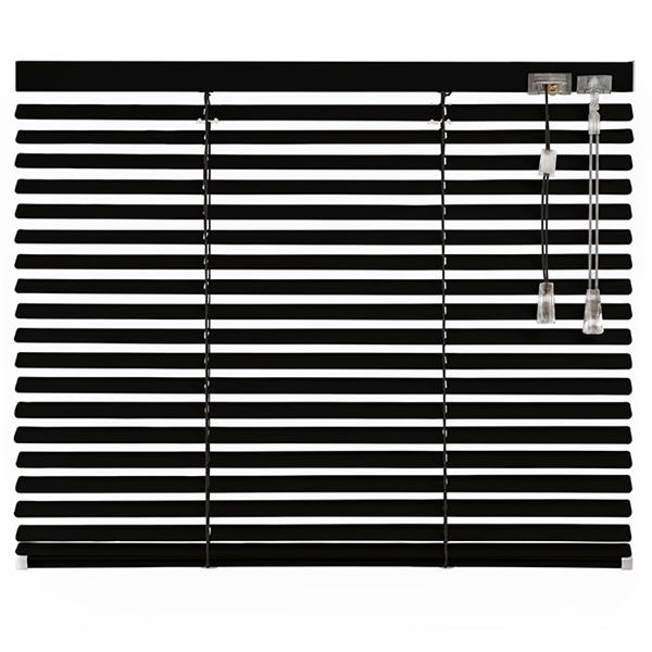 Afbeelding van Jaloezieen 25mm Zwart Motief Premium