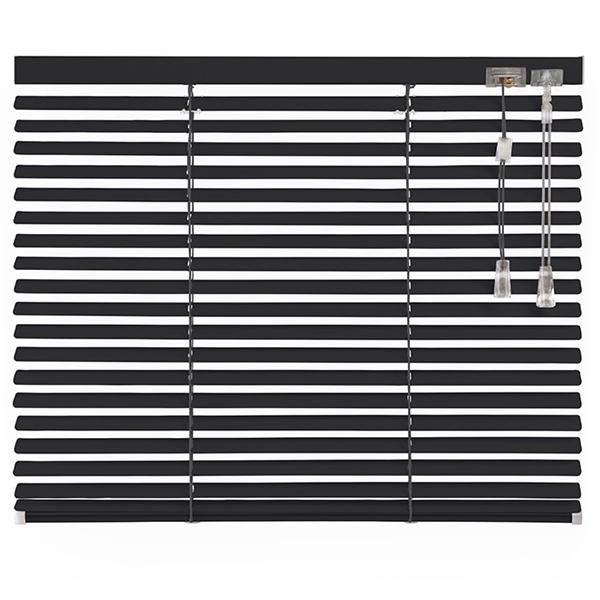 Afbeelding van Jaloezieen 25mm Dubbel Donker grijs