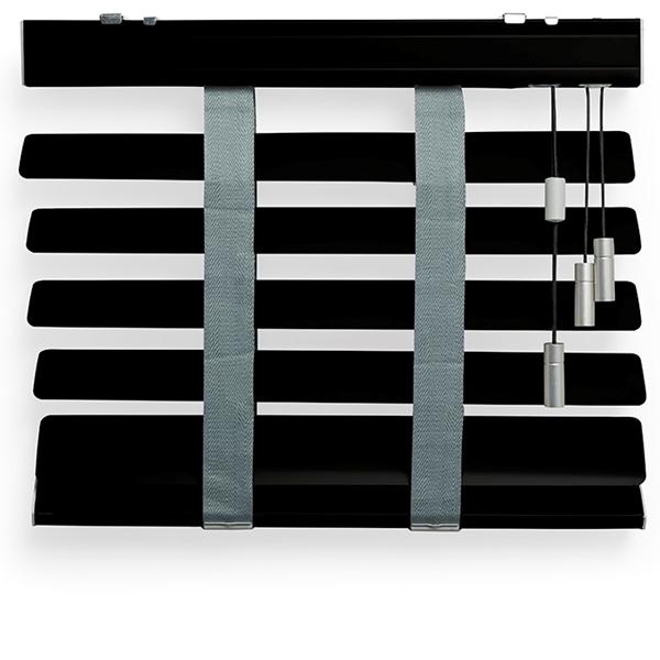 Afbeelding van Jaloezieen 70mm Zwart luxe