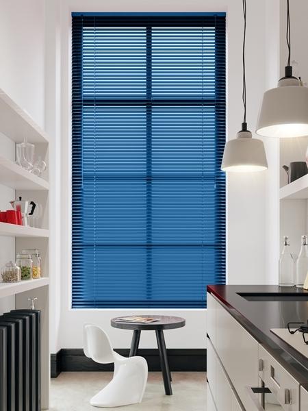 Afbeelding van Jaloezie Aluminium 25mm Blauw DEC25101