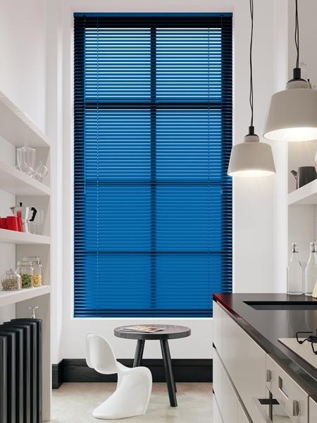 Afbeelding van Jaloezie Aluminium 25mm Blauw DEC25144