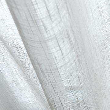 Afbeeldingen van Vitrage gordijn op maat Ivoor wit - Ceylon