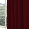 Afbeelding van Overgordijnen op maat Linnenlook Rood bruin - Volosity