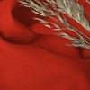 Afbeelding van Vouwgordijn op maat Linnenlook Oranje - Volosity019