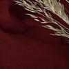 Afbeelding van Vouwgordijn op maat Linnenlook Rood bruin - Volosity021