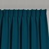 Afbeelding van Dim-out satijn look gordijnen op maat Uni kleur Turkooisblauw - Phoenix