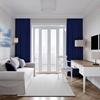 Velours gordijn op maat velvet deep blue / donker blauw - Naples