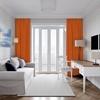 Velours gordijn op maat Terracotta Oranje - Naples