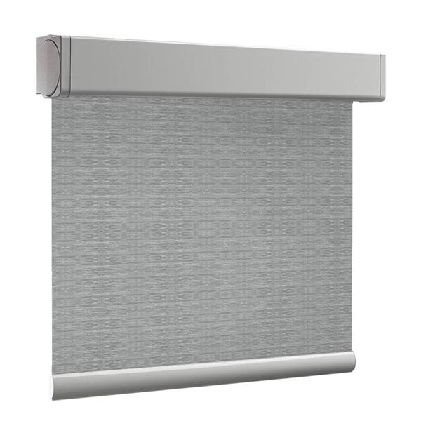 Afbeelding van Rolgordijn op maat Cassette vierkant - 50 tinten grijs Verduisterend