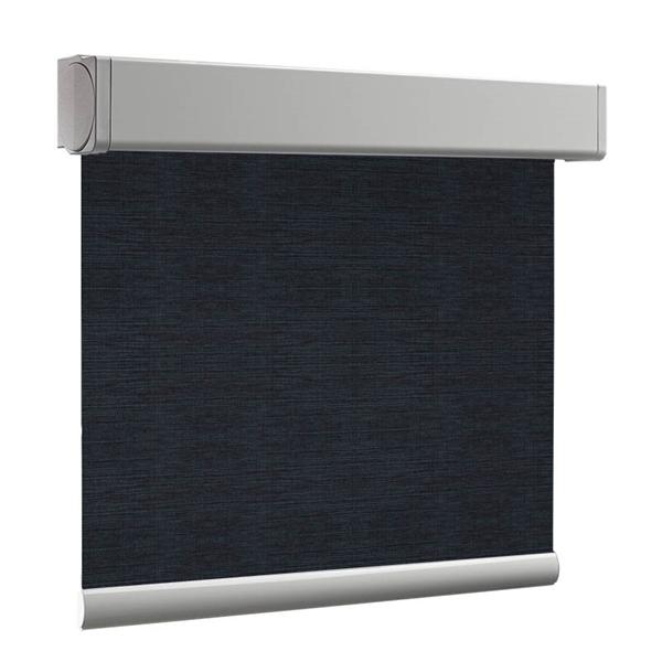 Afbeelding van Rolgordijn op maat Cassette vierkant - Donkerblauw grijs Verduisterend