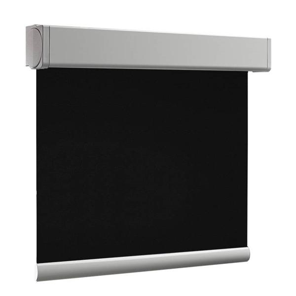 Afbeelding van Rolgordijn op maat Cassette vierkant - Zwart luxe Verduisterend