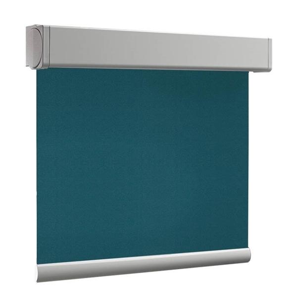 Afbeelding van Rolgordijn op maat Cassette vierkant - Donkerturquoise Verduisterend