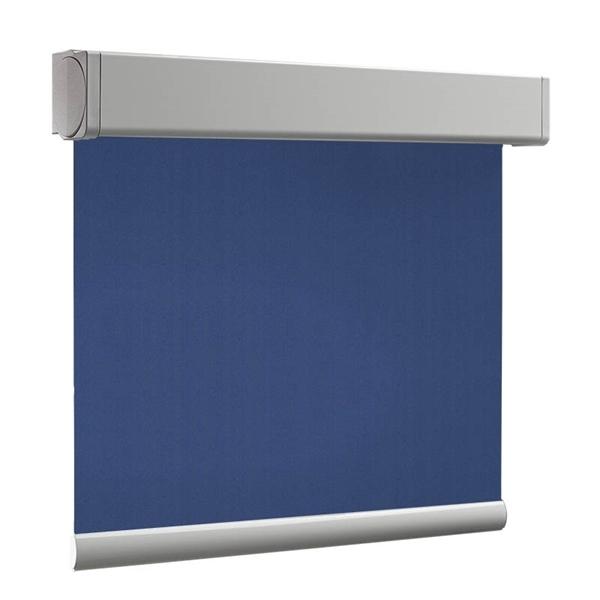 Afbeelding van Rolgordijn op maat Cassette vierkant - Zeeblauw Verduisterend