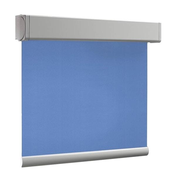 Afbeelding van Rolgordijn op maat Cassette vierkant - Blauw azuur Verduisterend