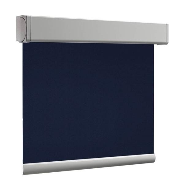 Afbeelding van Rolgordijn op maat Cassette vierkant - Blauw donker denim Verduisterend