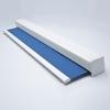 Afbeelding van Rolgordijn op maat Cassette vierkant - Blauw denim Verduisterend