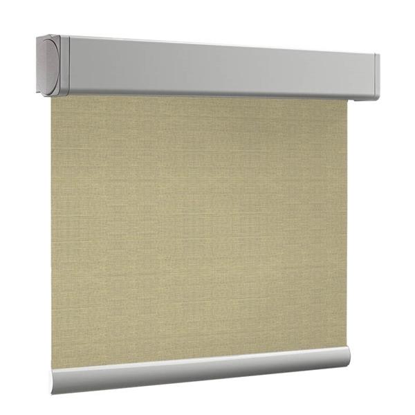 Afbeelding van Luxe rolgordijn cassette vierkant - Canvas beige Semi transparant