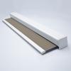 Afbeelding van Luxe rolgordijn cassette vierkant - Bruin tweed Semi transparant