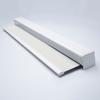 Afbeelding van Luxe rolgordijn cassette vierkant - Wit grijs Semi transparant