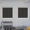 Afbeelding van Luxe rolgordijn cassette vierkant - Bruin zwart Semi transparant