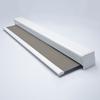 Afbeelding van Luxe rolgordijn cassette vierkant - Stoer grijs Semi transparant