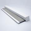 Afbeelding van Luxe rolgordijn cassette vierkant - Lichtgrijs wit verticaal gemeleerd Semi transparant