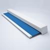 Afbeelding van Luxe rolgordijn cassette vierkant - Donkerblauw 70's look Semi transparant