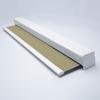 Afbeelding van Verano rolgordijn cassette vierkant - Glans goud beige met streep Transparant
