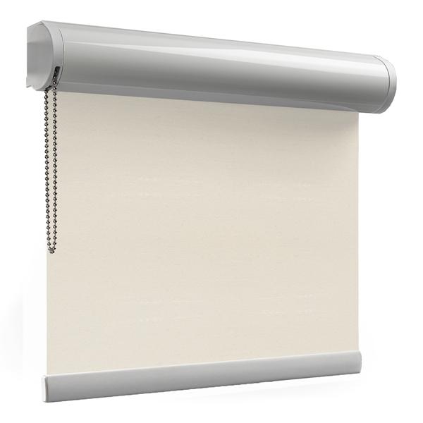Afbeelding van Rolgordijn op maat Cassette rond - Glimmend off white Verduisterend