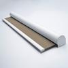 Afbeelding van Rolgordijn op maat Cassette rond - Glans zilver Verduisterend