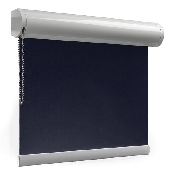 Afbeelding van Rolgordijn op maat Cassette rond - Donkerblauw Verduisterend