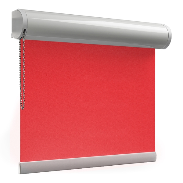 Afbeelding van Rolgordijn op maat Cassette rond - Rood roze Verduisterend