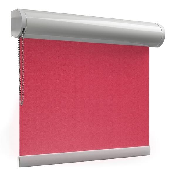 Afbeelding van Rolgordijn op maat Cassette rond - Roze rood Verduisterend