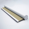 Afbeelding van Rolgordijn met luxe cassette rond - Canvas beige Semi transparant