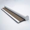 Afbeelding van Rolgordijn met luxe cassette rond - Luxe ribbel bruin Semi transparant