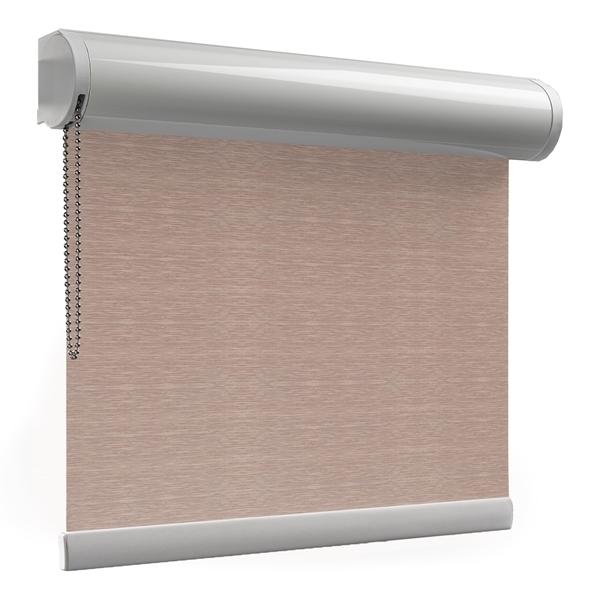 Afbeelding van Rolgordijn met luxe cassette rond - Bruin multicolor Semi transparant