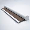 Afbeelding van Rolgordijn met luxe cassette rond - Stijlvol ouderwets bruin Semi transparant