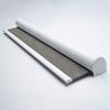Afbeelding van Rolgordijn met luxe cassette rond - Modern grijs bruin small Semi transparant