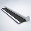 Afbeelding van Rolgordijn met luxe cassette rond - Ouderwets grijs Semi transparant