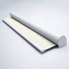 Afbeelding van Rolgordijn met luxe cassette rond - Crème Semi transparant