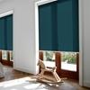 Afbeelding van Rolgordijn met luxe cassette rond - Groen/Blauw zee Semi transparant