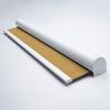 Afbeelding van Rolgordijn met luxe cassette rond - Goudbeige Semi transparant
