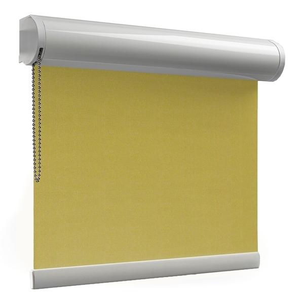 Afbeelding van Rolgordijn met luxe cassette rond - Olijfgroen army touch Semi transparant
